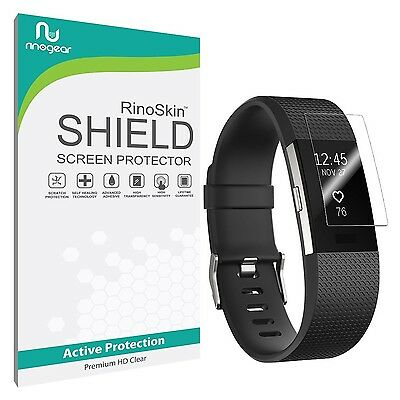 [8-PACK] Fitbit Charge 2 Screen Protector RinoGear Military-Grade Clear Shield