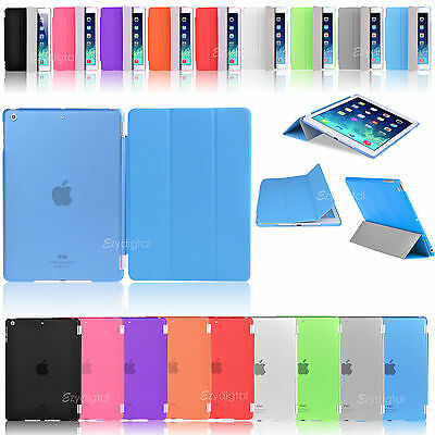 "New 2in1 Slim Flip Cover + Back Matte Case For Apple New iPad 9.7"" 2017"