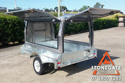 7x4 Tradesman Trailer Builders Trailer Aluminium Canopy Box Trailer Brisbane Qld
