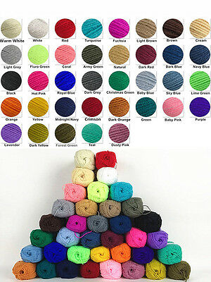 Knitting Yarn 8Ply Acrylic Knitting Wool Crochet Ball 100g 190m Bulk Lot Mixed