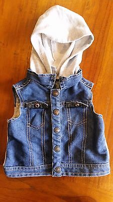 Target Baby Boys Hoodie Vest sz6-12mths preowned free post E21