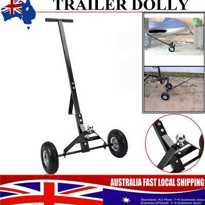 New Trailer Wheel Dolly 275kg/600lbs Camper Boat Mover Utility Chrome Hitch
