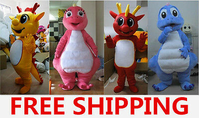 2017 Hot Selling High Quality 4 Dragon Adult Mascot Costume Festival Party Gift