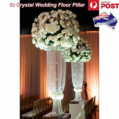 Crystal Wedding Centerpiece Globe Pillar Candle Holders Bouquet Flower Vase Deco