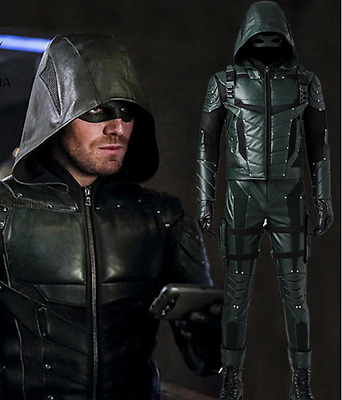 Costume Green Arrow Seson 5 Suit Cosplay, 2S-3Xl- ,mask,replica,cosplay,man,