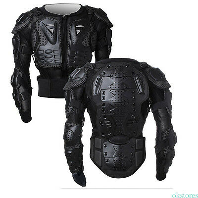 Motorcycle Full Body Armor Jacket Motocross Racing Back Shoulder Protector Gear