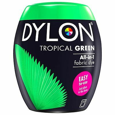 Dylon Machine Dye Pod Fabric Clothes All in One - Tropical Green 350g