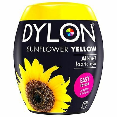 Dylon Machine Dye Pod Fabric Clothes All in One - Sunflower Yellow 350g