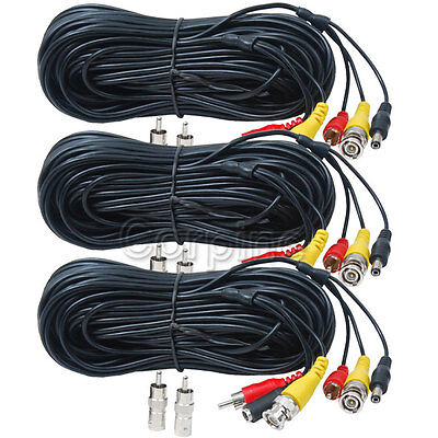 3 HD Security Camera 150ft Audio Video Power Cable for AHD CVI TVI 960P 720P WVG