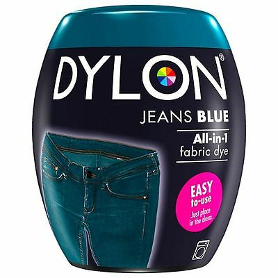 Dylon Machine Dye Pod Fabric Clothes All in One - Jeans Blue 350g