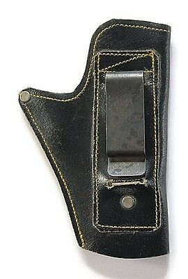 Vintage Pistol Holster For 22 Caliber Belt Clip Hand Gun Holster Leather I.D.F