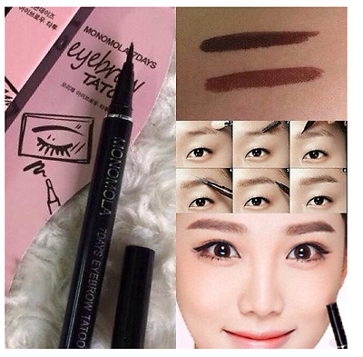 2017 1Pc Women Pro Eyes Product Waterproof Brown 7 Days Eye Brow Eyebrow Tattoo