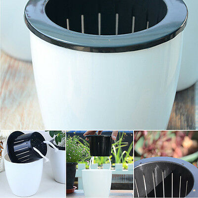 S/M/L/XL Plastic Self-watering Plant Flower Pot Wall Hanging Planter Home Garden