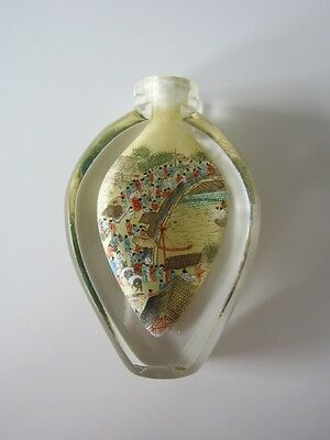 Glasfläschchen, China, Snuff Bottle, Hinterglasmalerei