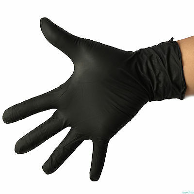 10 PACK BLACK LATEX FREE TATTOO MEDICAL MECHANIC GLOVES  L , XL condition NEW