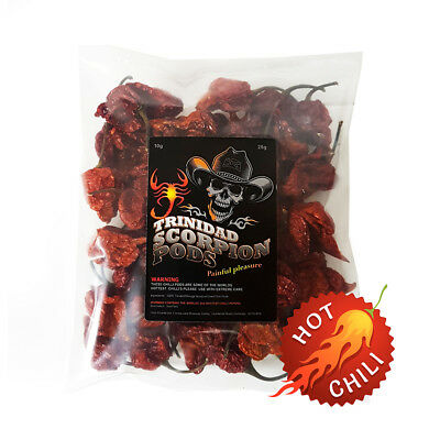 Trinidad Moruga Scorpion Chilli - Dried Pods - 2nd Worlds Hottest Chilli 25g