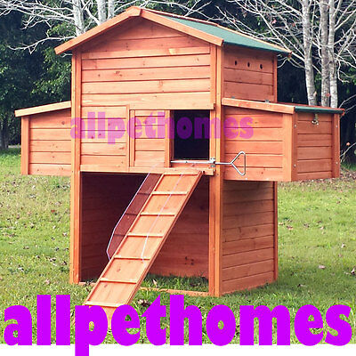 LARGE Chicken Coop Rabbit Hutch Ferret Cage Hen Chook House Guinea Pig B5