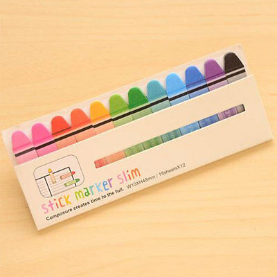 Bookmark Marker Memo Flags Index Tab Sticky Notes Paper Stickers Stationery