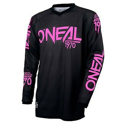 Oneal WOMENS Threat Shadow MX Motorbike Jersey Shirt Top BLACK WHITE Size S-XL