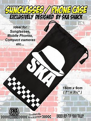 SKA 2 TONE sunglasses / phone case soft pouch EXCLUSIVE to Ska Shack
