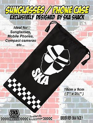 SKA 2 TONE sunglasses / phone case soft pouch EXCLUSIVE jabsco Selecter Specials