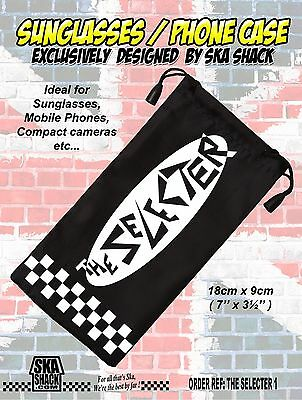 THE SELECTER sunglasses / phone case. soft pouch. Ska 2 tone. EXCLUSIVE