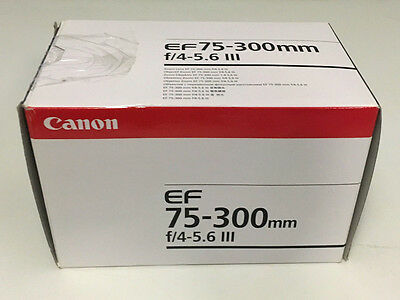 BRAND NEW Canon EF 75-300mm f/4.0-5.6 III Lens