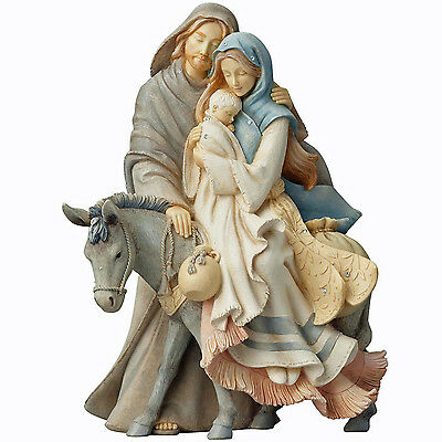 Foundations Holy Family with Donkey Figurine Karen Hahn 4058697