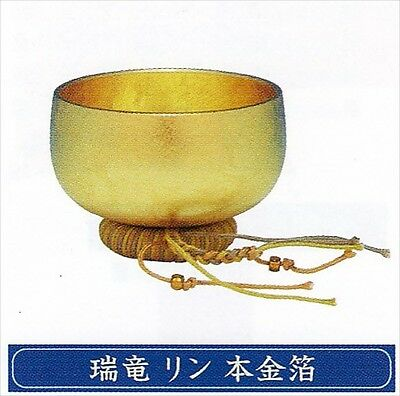Japanese  Buddhist  Bowl SingingRui Ru phosphorous gold foil EMS shipping