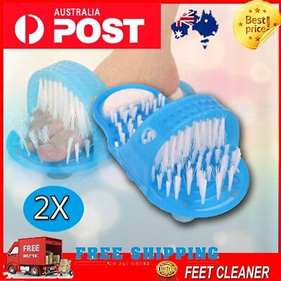 2X Brand New Foot Gift Shower Feet Cleaner Scrubber Bath Brush Bristle Massager