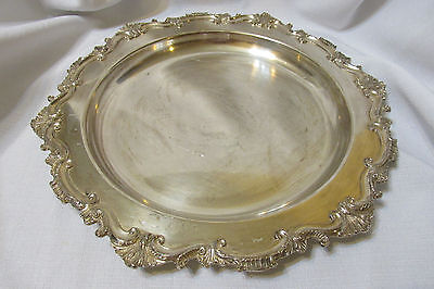 Vintage Silverplated Serving Tray Wilcox Essex Manor International Silver 2855