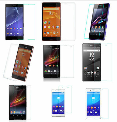 100% Genuine Tempered Glass Screen Protector Protection For Sony Xperia Mobile