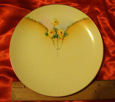Rare Pattern Everett 1900 - 1940 Antique Hand Painted Plate Signed and Numbered
