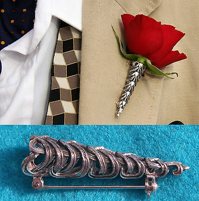 Silver Plated Small Wedding/Prom Buttonhole Flower Vase*Corsage*Boutonniere