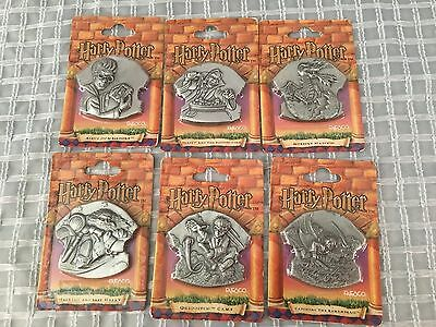 Lot of (6) HARRY POTTER Magnetic Medallion Magnets NEW by Enesco Snape Hagrid