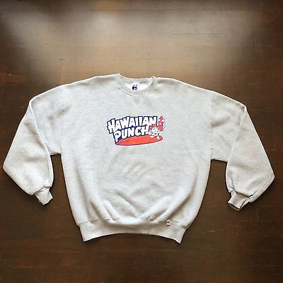 Vintage Gray Hawaiian Punch Sweatshirt Mens XL Fits L/XL USA