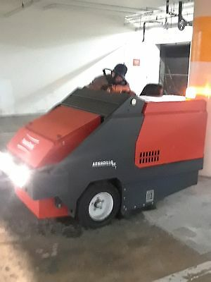 Powerboss Armadillo SW/6XV Gasoline Industrial Sweeper High Dump Model