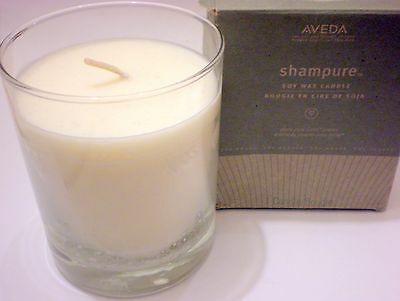 Rare Aveda Shampure Soy Wax Candle Plant Pure-Fume Aroma 50 Hours Made In Usa Bb