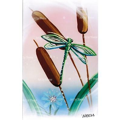 Dragonfly Art Print Green Dragonflies Picture