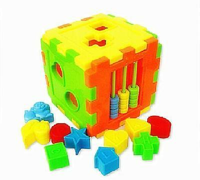 NEW Colorful Block Magic Cube Toys Baby Educational Great Shape Sorting Kid Gift