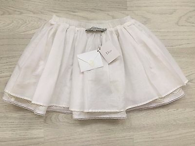 Christian Dior, white cotton Broderie anglaise girls skirt age 4 BNWT RRP £350