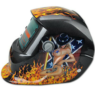 Cowgirl Solar Power Darkening Welding Auto Helmet Mask with Grinding Function