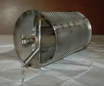 Made In USA 1 Lb Capacity Coffee Roaster Drum for Bbq Grill Peanut Chile Cacao