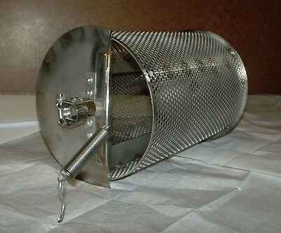 New 1 Lb Capacity Coffee Peanut Chile Cacao Roaster Stainless Bbq Drum