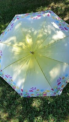 Really Cute Colorful Floral Silk Like Umbrella New With Tags By Totes