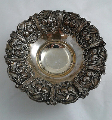 Small Fruit Candy Nut Dish Bowl - Sterling Silver 925 - Weight: 78 grams