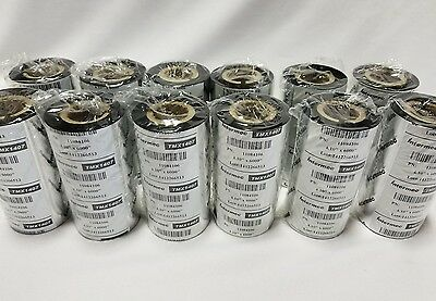 "12 ROLLS, Intermec 11084106 HONEYWELL TMX1407 WAX RIBBONS 4.1""×500', SKBAWA-B096"