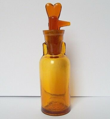 Antique German Drop Opium Anaesthesia Amber Glass Bottle