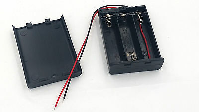 3 AA Battery Pack Holder Box Case 4.5V ON/OFF Switch