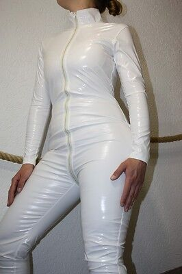 Weiße Pvc Lack Overall, Catsuit, Bis Zu 1,80 Meter, Pvc, Sexy Overall #csw-0